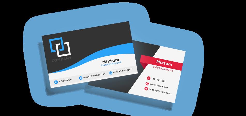 Mixtum - Käyntikortin suunnittelu