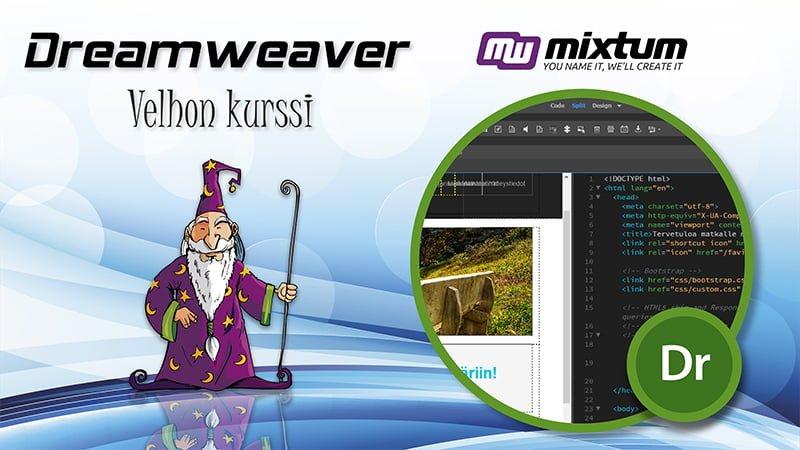Adobe Dreamweaver -velhon koulutus