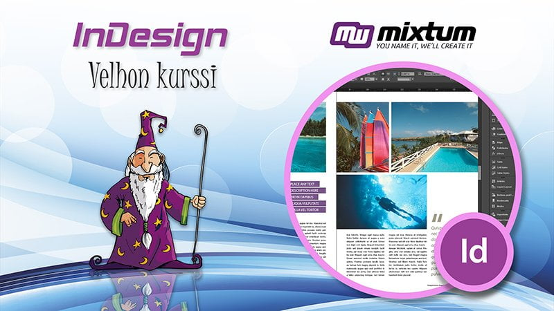 Adobe InDesign -velhon koulutus