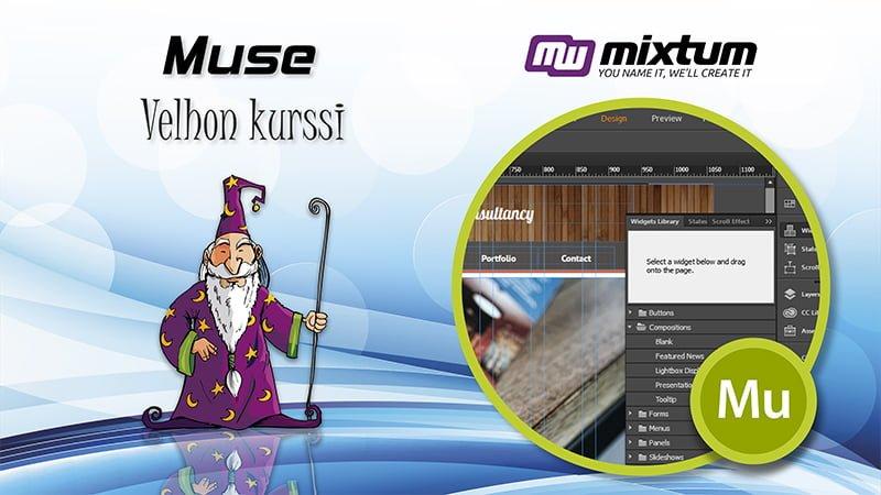 Adobe Muse-velhon koulutus