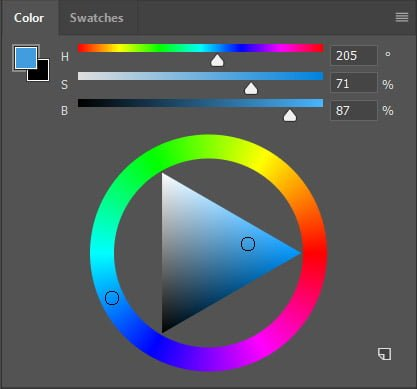 Adobe Photoshop CC 2019 Color Wheel