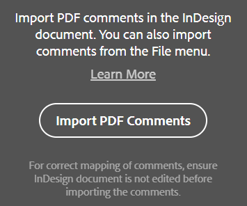 Adobe InDesign CC 2019 Import PDF Comments