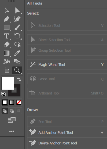 Adobe Illustrator CC 2019 Edit Toolbar