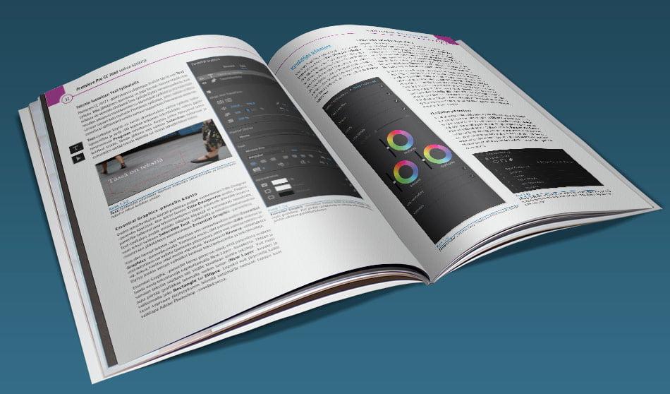 Adobe Premiere Pro CC 2020 -velhon käsikirja tarjoaa tehokkaan tietopaketin. Sähköisessä PDF-versiossa voit katsoa opasta (PDF-lukuohjelmastasi riippuen) joko sivu kerrallaan tai kahden sivun aukeamana. Vastaavasti valmiiksi tulostetut, niitatut ja postitetut versiot ovat A4-paperille tehtyjä värilasertulosteita.