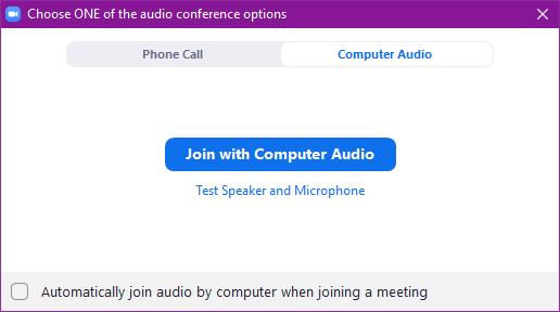 Zoom client pyytää sinulta lupaa liittyä mikrofonin kanssa.